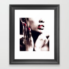 Life Is Red Framed Art Print