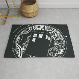 Negative Time and Space - Doctor Who inspired Rug