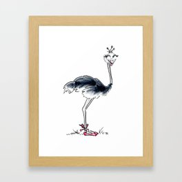 Ostrich Ballerina Framed Art Print
