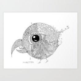 Sad Bird Art Print