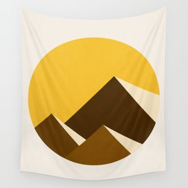 Abstraction_Mountains_YELLOW_001 Wall Tapestry