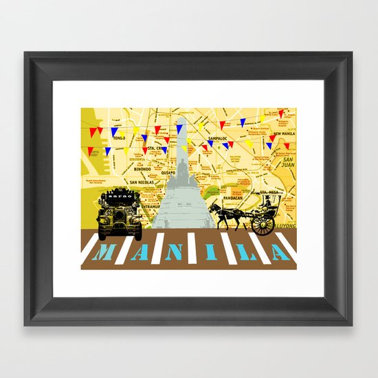 Locals Only - Manila Framed Art Print
