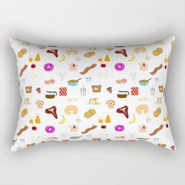 Breakfast Pattern - Yummy Traditional Foods Rectangular Pillow