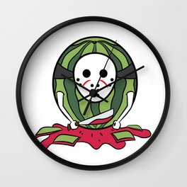 """""""Masked Watermelon"""" tee design. Makes a nice tee gift to your friends and family!  Wall Clock"""