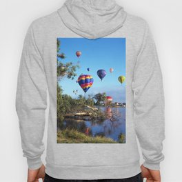 Hot air balloon scene Hoody