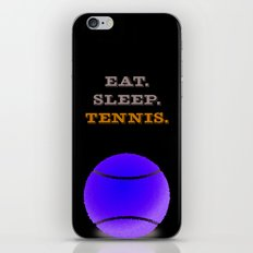 Eat. Sleep. Tennis. (White with Blue) iPhone & iPod Skin