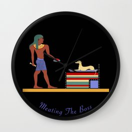 Meating the Boss Wall Clock
