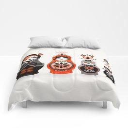 Russian Nesting Dolls – Red & Black Comforters