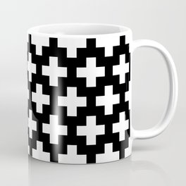 Swiss Cross W&B Coffee Mug