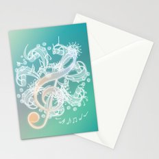 Music Notes - Crystal Stationery Cards