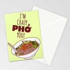 I'm Crazy Pho You! Stationery Cards