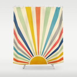 Sun Retro Art III Shower Curtain