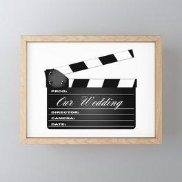 Our Wedding Clapperboard Framed Mini Art Print