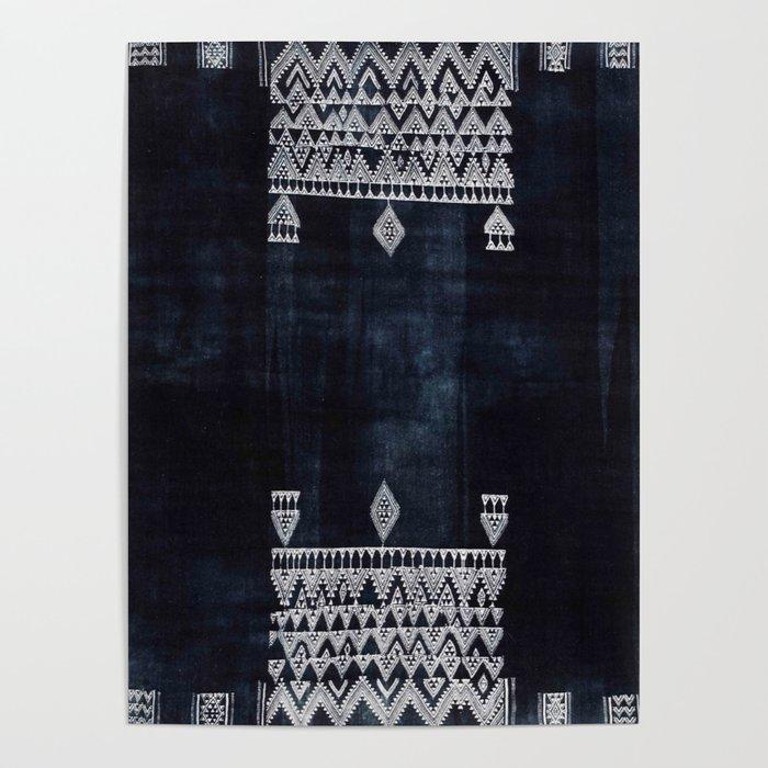 Arteresting V48 - Indigo Anthropologie Bohemien Traditional Moroccan Design Poster