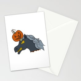Unicorn pumpkin halloween skewer kids creepy monster zombie gift idea Stationery Cards