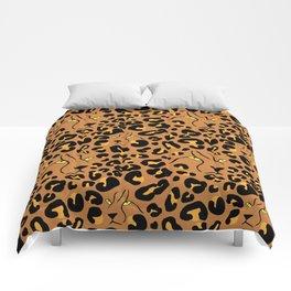 Cheetah Print Faces in Terracotta Tan Comforters