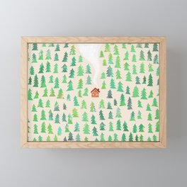 Alone in the woods Framed Mini Art Print