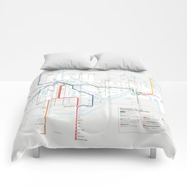 Future Minneapolis & St. Paul Transit Map  Comforters