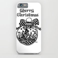 Black and white Christmas ornament iPhone 6s Slim Case