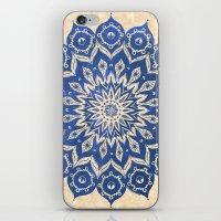 blue iPhone & iPod Skins featuring ókshirahm sky mandala by Peter Patrick Barreda