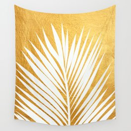 Golden leaf IV Wall Tapestry