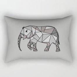 elephant geometric, bishop grey 2, home decor, Graphicdesign Rectangular Pillow