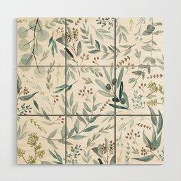 Eucalyptus pattern Wood Wall Art