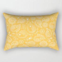 Hedgehog Paisley_Yellow Rectangular Pillow