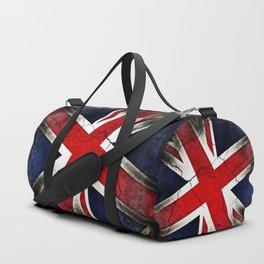 Punk Grunge Union Jack British Flag Duffle Bag