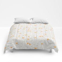 Birds & Birch - Orange Beige Comforters