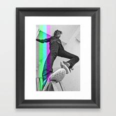 Human abstract Framed Art Print