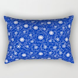 Florida fan gators university orange and blue team spirit football college sports florals dots Rectangular Pillow