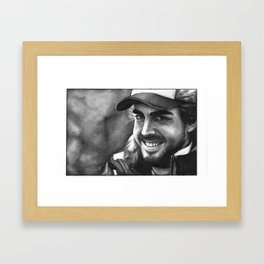 Fernando Alonso Framed Art Print