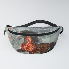 Wonderful horse with skulls Fanny Pack