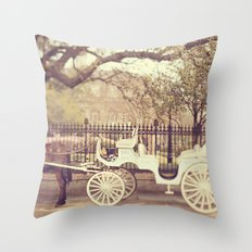 New Orleans Carriage Ride Throw Pillow