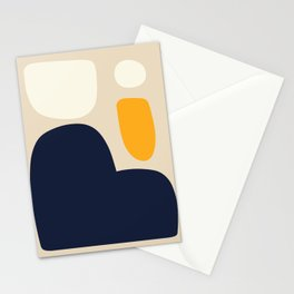 Abstract Blue and Yellow Art Stationery Cards
