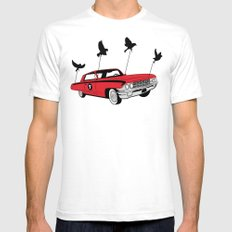 Four Wheel Fly Mens Fitted Tee White SMALL