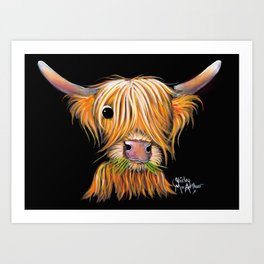 HiGHLaND CoW PRiNT SCoTTiSH ' LiTTLe ViKiNG 2 ' BY SHiRLeY MacARTHuR Art Print