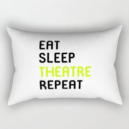 Eat Sleep Theatre Thespian School Rectangular Pillow