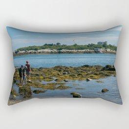 Rocky Beach in Maine Rectangular Pillow