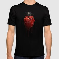 Heart Grenade Black LARGE Mens Fitted Tee