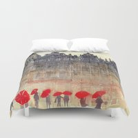 brussels Duvet Covers featuring Brussels by takmaj