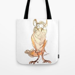 Owl scribble Tote Bag