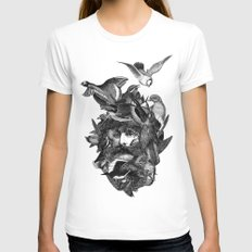 Scarecrow Womens Fitted Tee White MEDIUM