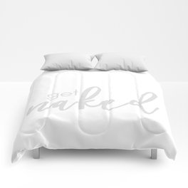 Get Naked // Light gray on white Comforters