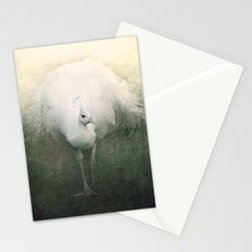 White Peacock Stationery Cards
