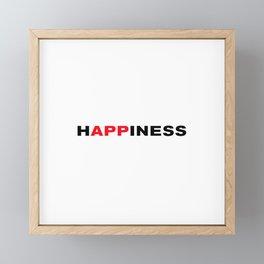 happiness Framed Mini Art Print