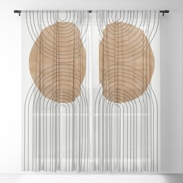 Abstract Flow Sheer Curtain