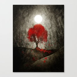 Red autumn. Canvas Print