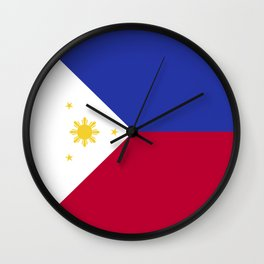 Philippines flag emblem Wall Clock